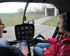 Hubschrauber selber fliegen - Cockpit R44