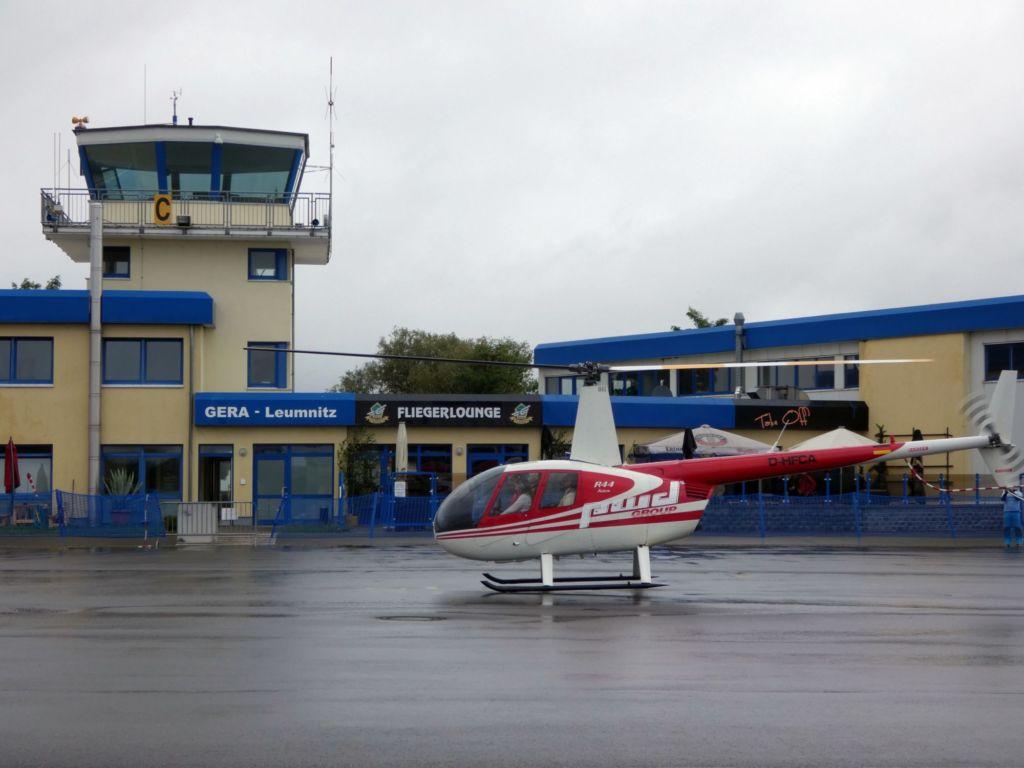 Flugplatz Gera mit Vorfeld